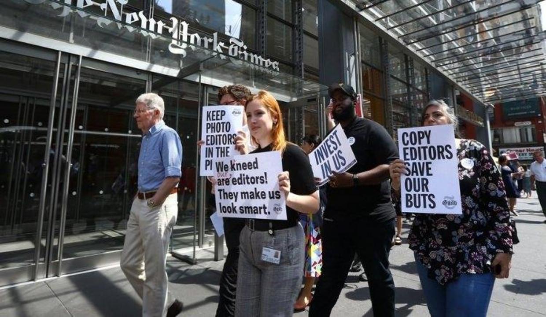 NYT'a şok! Gazeteciler işi durdurdu