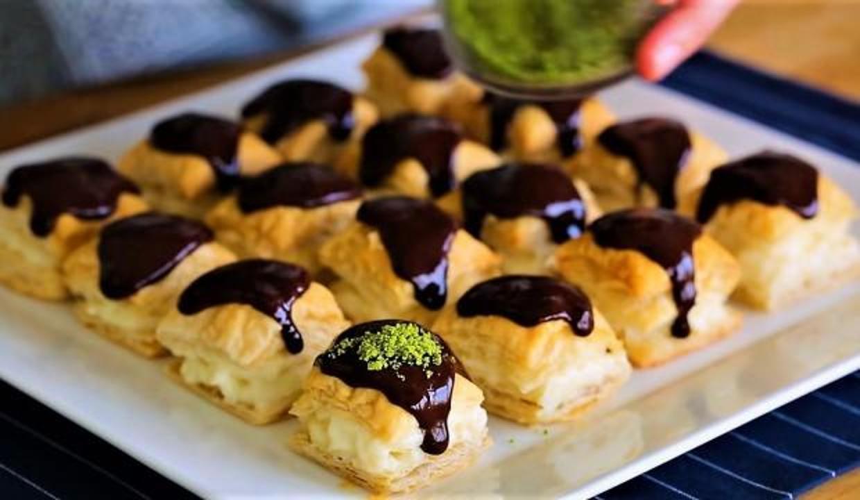 Milföy hamurundan çıtır tatlı yapımı: Milföylü pratik & kolay tatlı tarifleri...