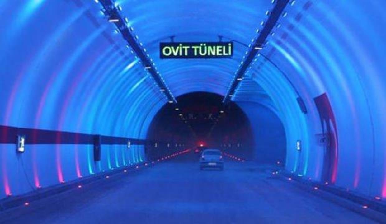 Ovit Tüneli tek yönlü trafiğe kapatıldı