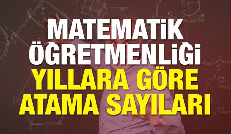 Matematik Öğretmenliğinde hangi yılda ne kadar atama yaptı? MEB