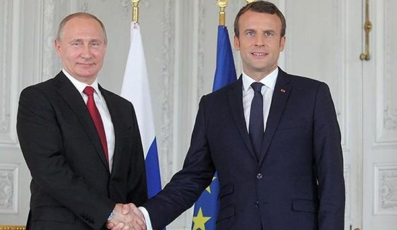Putin ile Macron Suriye'yi görüştü