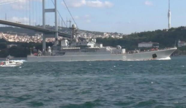 Rus savaş gemisi Boğaz'dan geçti! Akdeniz'e ilerliyor!