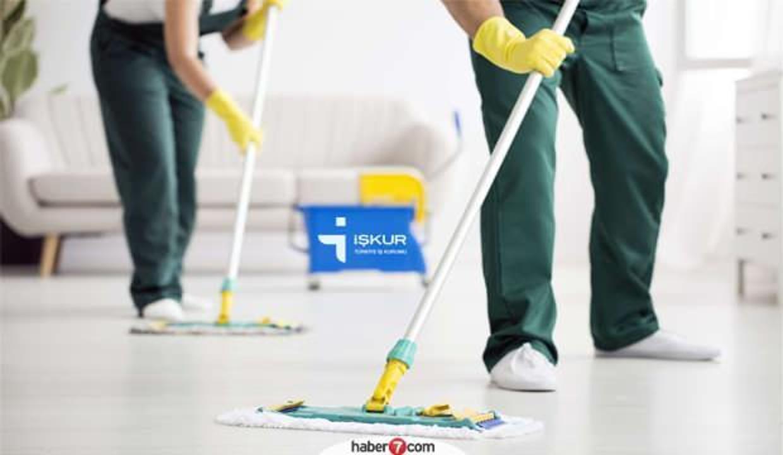 İŞKUR üzerinden temizlik görevlisi alımı!