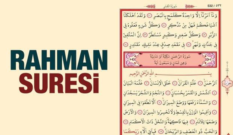 Rahman Suresi Arapça ve Türkçe okunuşu | Rahman suresi faziletleri...