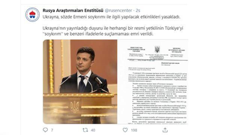 Ukrayna'dan çarpıcı Türkiye talimatı: Soykırım demeyeceksiniz