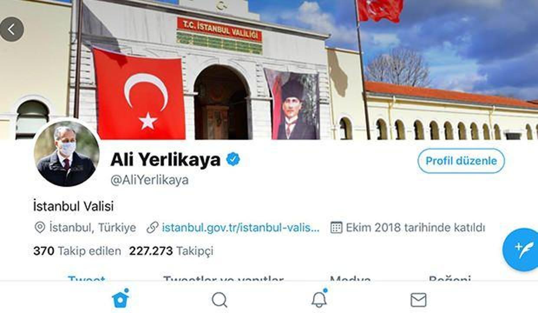 İstanbul Valisi Ali Yerlikaya'dan maskeli profil fotoğrafı