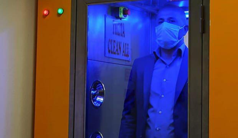 Virüs ve bakterileri 1 dakikada temizleyen kabin üretildi