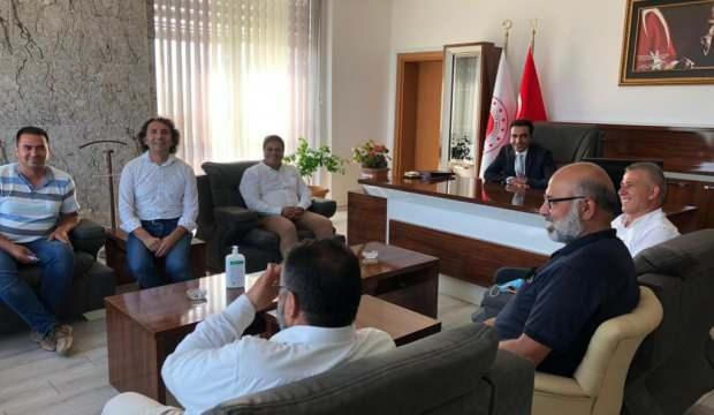 Gazetecilerden Başsavcı Yaşar Özkan'a Hayırlı Olsun Ziyareti.