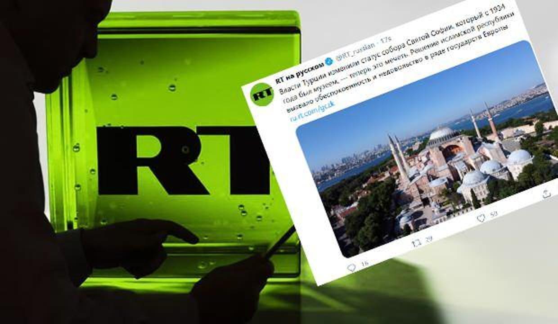 Rusya'nın resmi yayın organında 'Ayasofya Camisi' hazımsızlığı