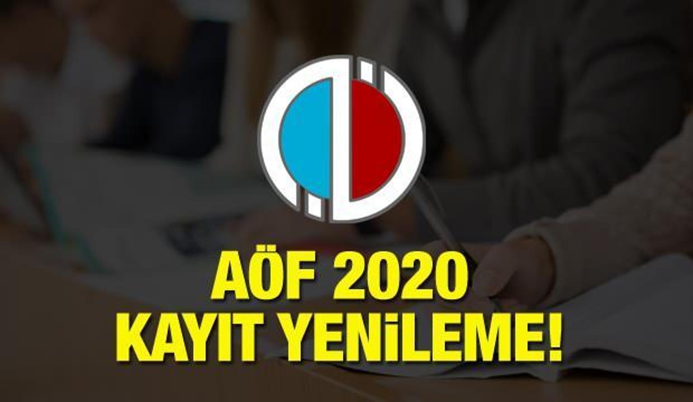 AÖF kayıt yenileme ne zaman? Anadolu Üniversitesi AÖF 2020 kayıt takvimi belli oldu!