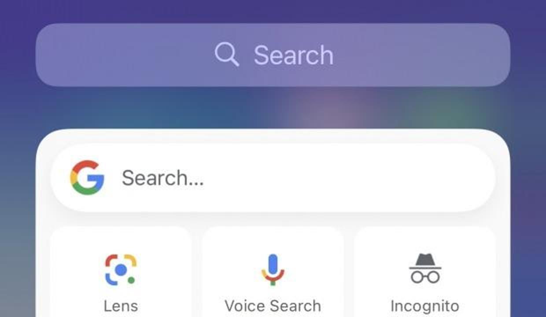 iOS 14'ün ilk üçüncü parti Widget'ı Google arama oldu