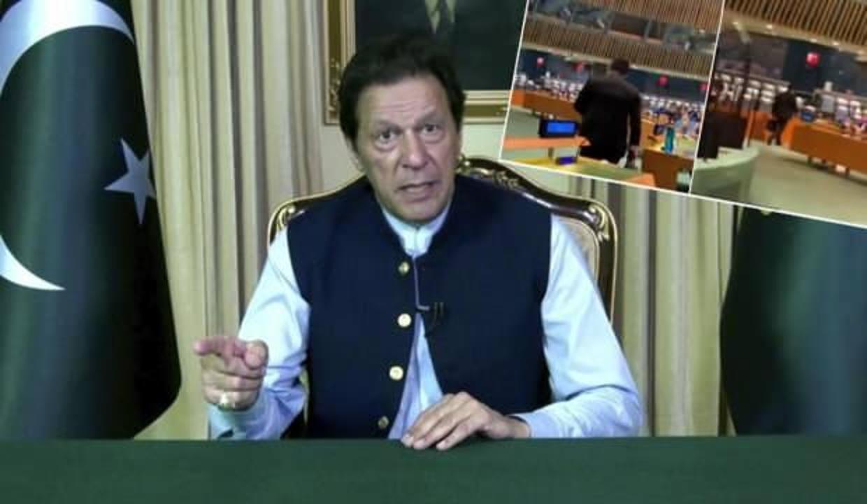 Imran Khan'ın sözleri Hintli diplomata salonu terk ettirdi