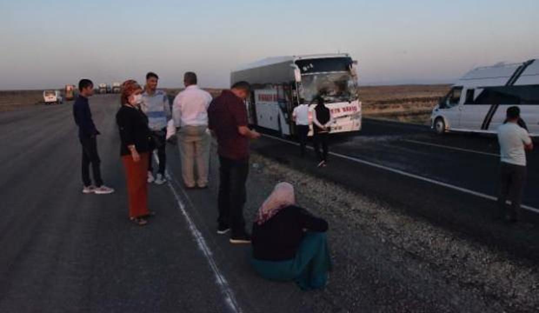 Otobüsleri TIR'a çarpan yolcular, yol kenarında yeni araç bekledi