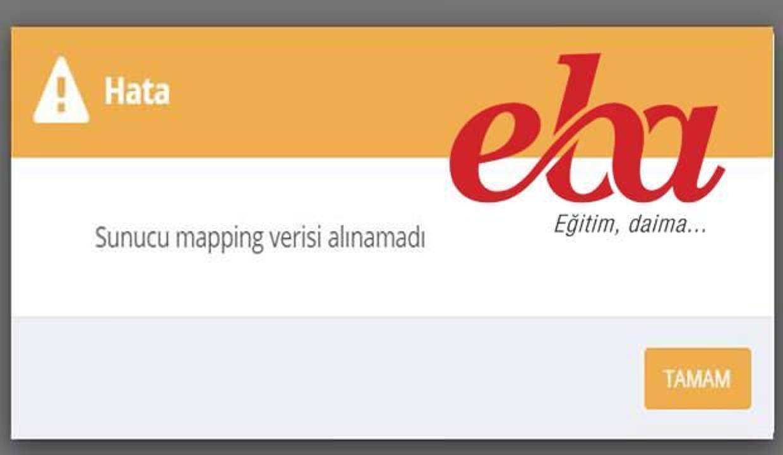 """EBA çöktü mü? """"Mapping verisi alınamadı"""" hatası ne demek? 30 Kasım Mapping  hatası çözümü! - EĞİTİM Haberleri"""
