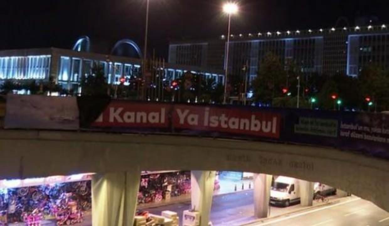 Kanal İstanbul aleyhindeki afişlerle ilgili incelemede yeni gelişme