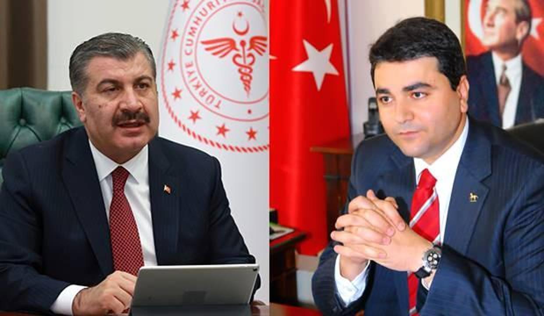 Bakan Koca'dan DP Genel Başkanı Gültekin Uysal'a teşekkür