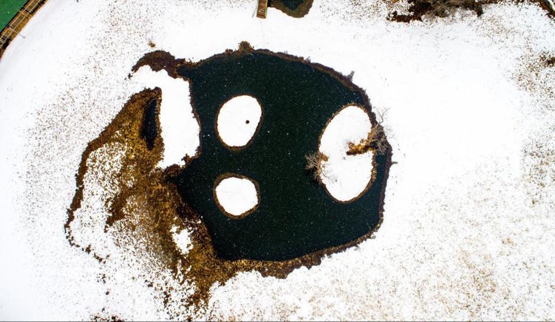"""Kış manzaralarının yeni gözdesi Bingöl'ün """"yüzen adaları"""""""
