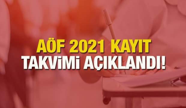 AÖF kayıt yenileme takvimi! 2021 Anadolu Üniversitesi AÖF kayıt ücreti ve ders seçimi yapma!