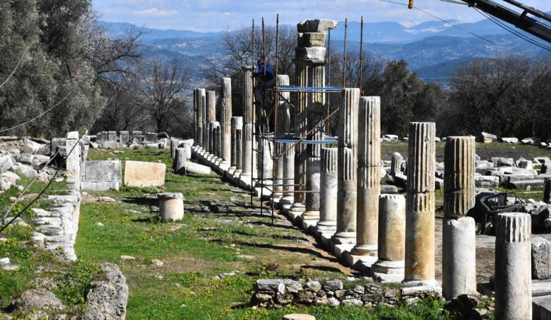 3 bin yıllık sütunlar yeniden ayağa kaldırılıyor