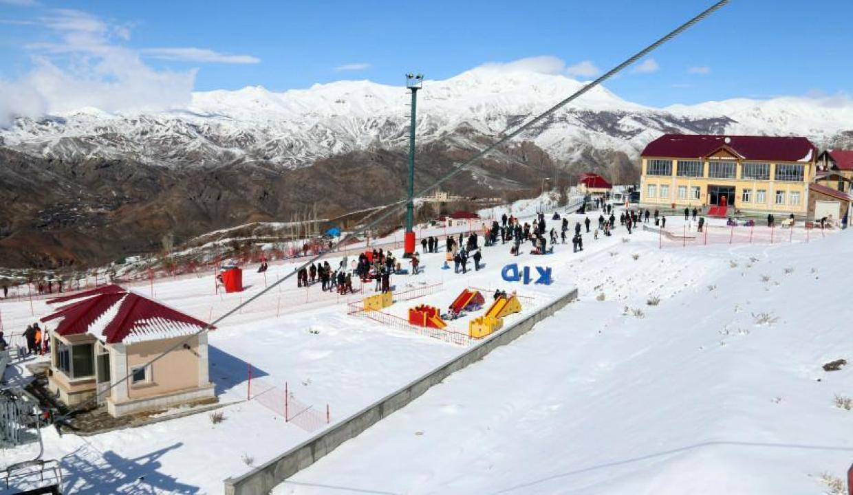 Nahçıvan kayak merkezine kavuştu