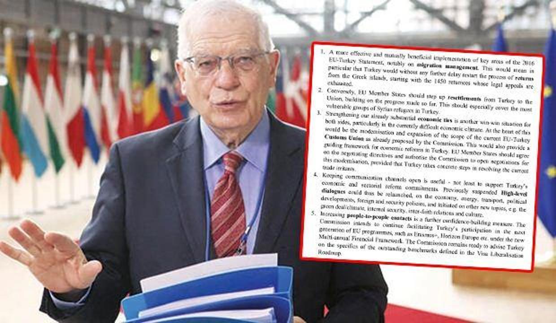 Borrell'in hazırladığı Türkiye raporu AB Zirvesi'nde liderlerine sunulacak