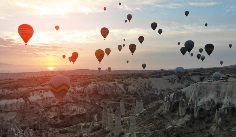 Kapadokya 3 ayda 200 bin turisti ağırladı