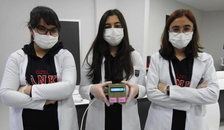 Lise öğrencileri geliştirdi: 5 dakikada yüzde 95 doğru sonuç veren test cihazı