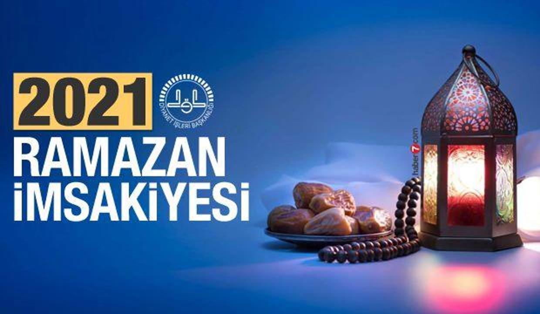 Ramazan İmsakiyesi 2021! 30 günlük 81 ilin iftar saati ve sahur vakti!