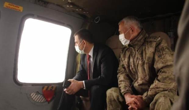 Siirt Valisi'nden PKK'ya operasyon bölgesinde inceleme
