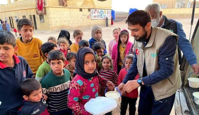 Fetih Derneği'nden savaş mağduru ailelere ramazan yardımı