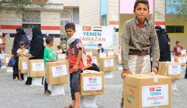 Türkiye'den Yemen'e Ramazan yardımı