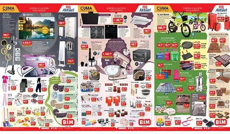 BİM 30 Nisan Aktüel Kataloğu! Züccaciye, tekstil, elektronik, mobilya ve piknik ürünlerinde...