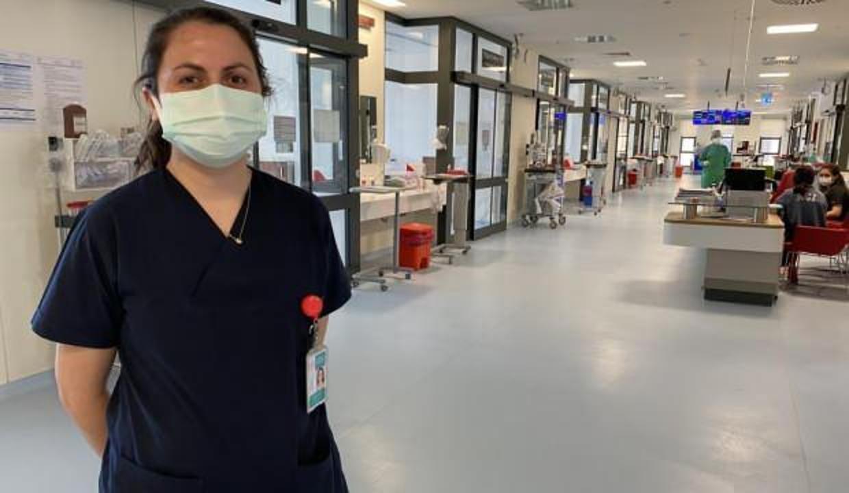 14 yıllık hemşire koronayı atlatarak hastalarına döndü!