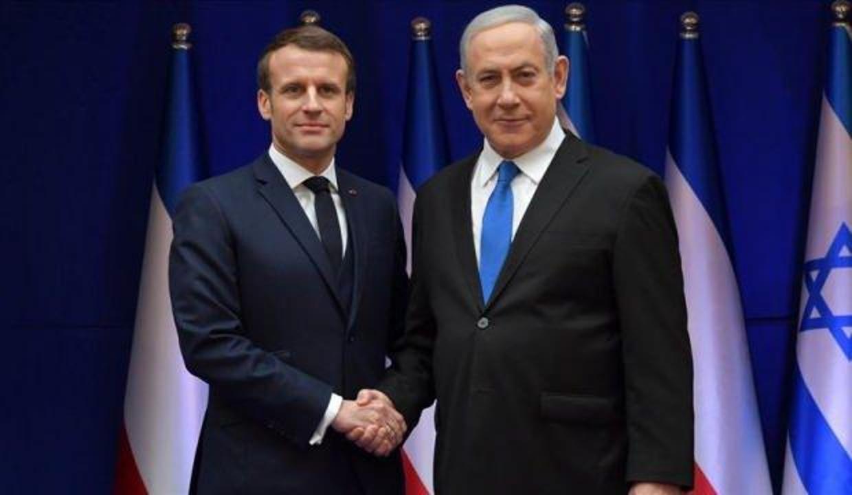 Macron, İsrail'i kınamadan başsağlığı diledi