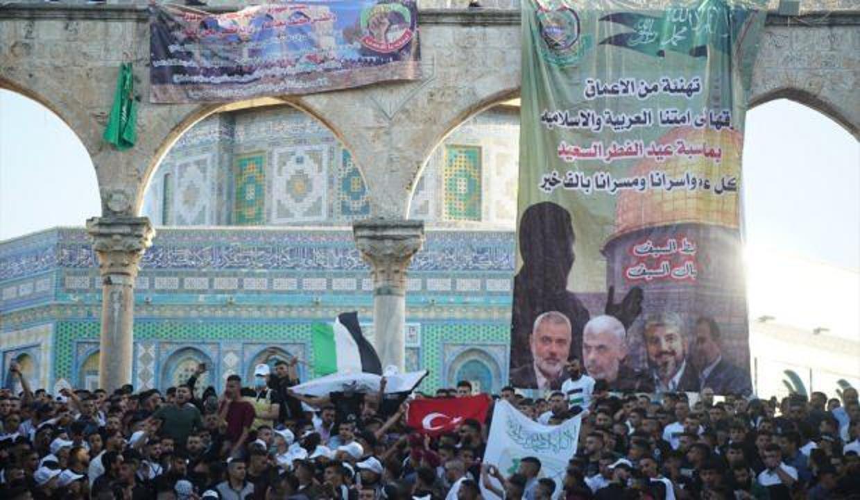 Mescid-i Aksa'da Türk bayrağı dalgalandı