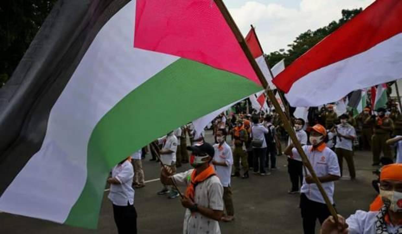 Endonezyalılar Filistin'e destek için meydanlardaydı