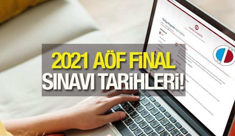 AÖF dönem sonu online sınavları ne zaman? 2021 Anadolu Üniversitesi sınav takvimi!