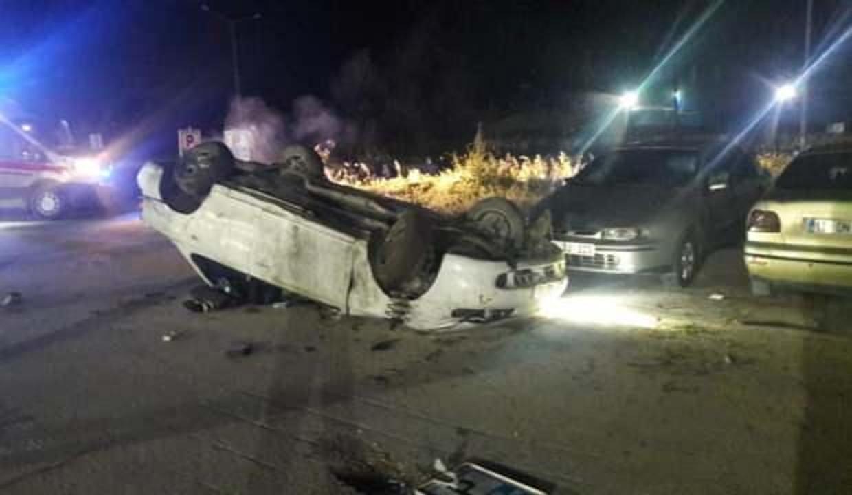 Devrilen otomobil sürücüsü hayatını kaybetti