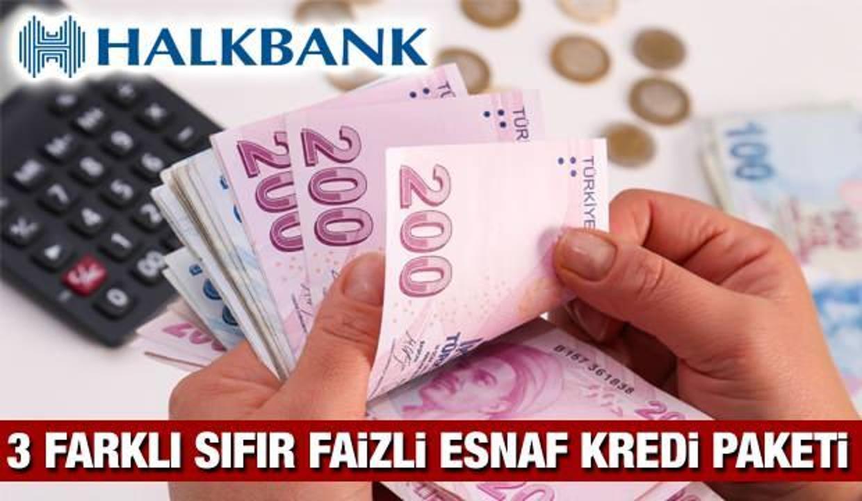 Halkbank'tan Sıfır Faizli Esnaf Kredi paketi! Başvuru şartları neler?
