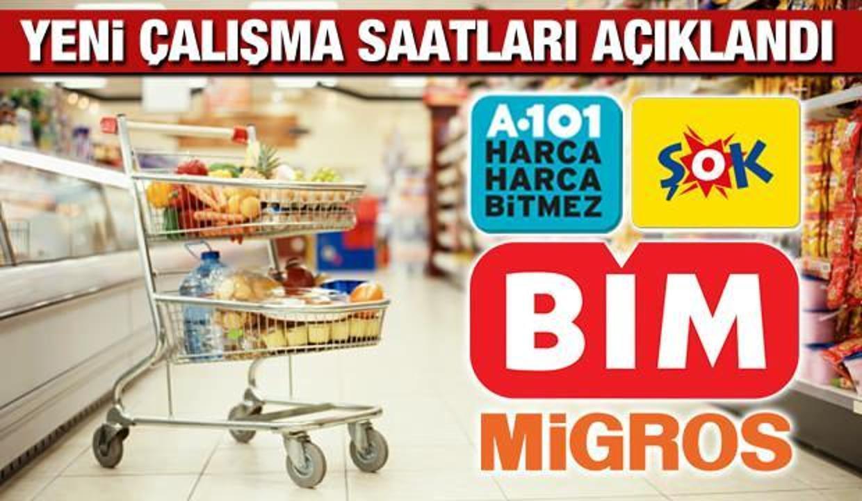 ŞOK BİM 101 Migros ve Marketlerin Çalışma Saatleri Değişti! Marketlerin Yeni Açılış Kapanış Saatleri