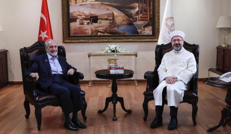 Oğuzhan Asiltürk'ten Diyanet İşleri Başkanı Erbaş'a ziyaret