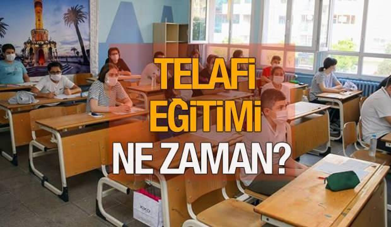 Telafi eğitimi ne zaman başlayacak? MEB Telafi eğitimi programı belli oldu! Yazın okullarda...