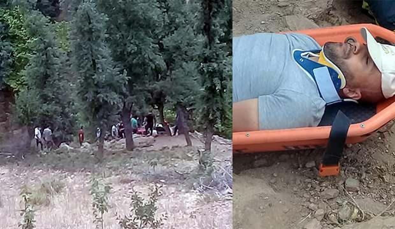 Direkleri sayarken 50 metreden uçuruma yuvarlandı