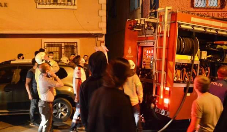Şişli'de 8 katlı apartmanda yangın paniği