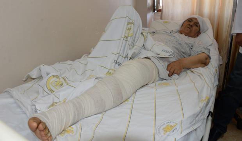 Diyarbakır'da 72 yaşındaki kadının uyluğundan 5 kilo tümör çıktı!
