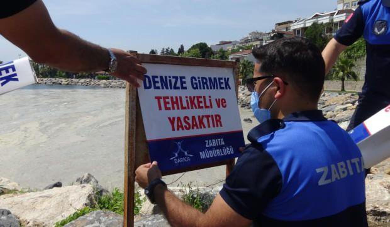 Darıca'da müsilaj yasağı: Denize girmek yasaklandı