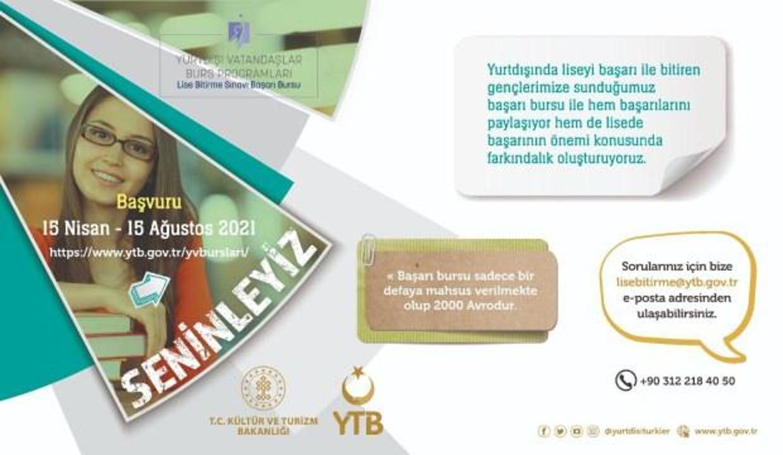 YTB, liseyi yeni bitiren başarılı gençleri ödüllendiriyor