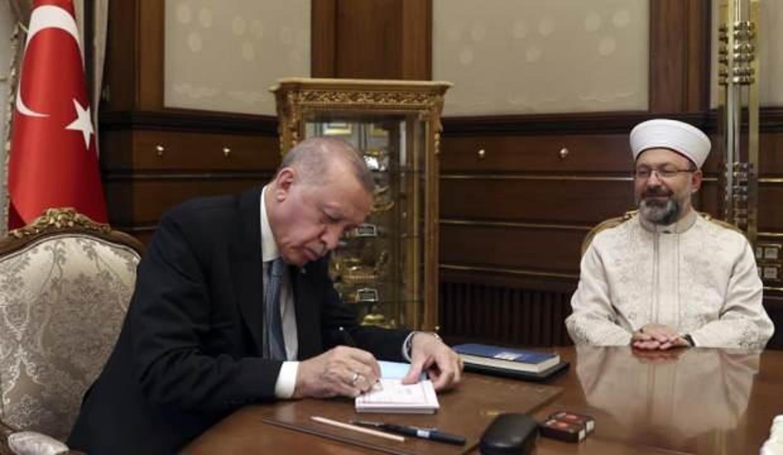 Cumhurbaşkanı Erdoğan'dan Diyanet Vakfı'na kurban bağışı