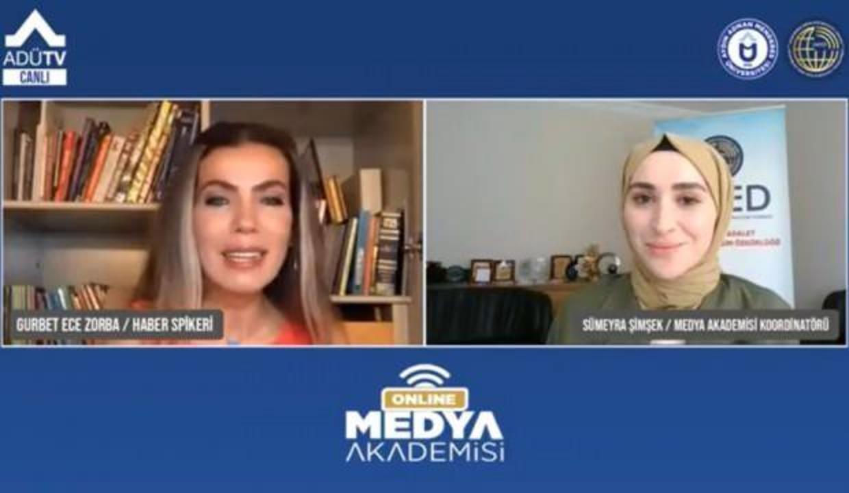 """Geleceğin habercileri """"Medya Akademisi"""" ile ADÜTV üzerinden eğitimlerine devam ediyor"""