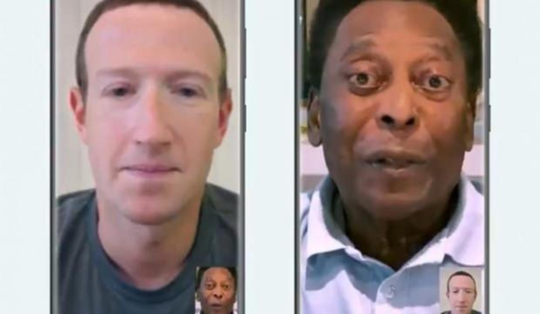 Taçsız Kral Pele ve Zuckerberg, WhatsApp reklamı için buluştu